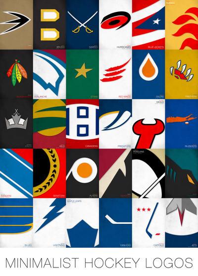 NHL Minimalist Logos By Pootpoot1999