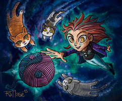 Den and cosmic kitties
