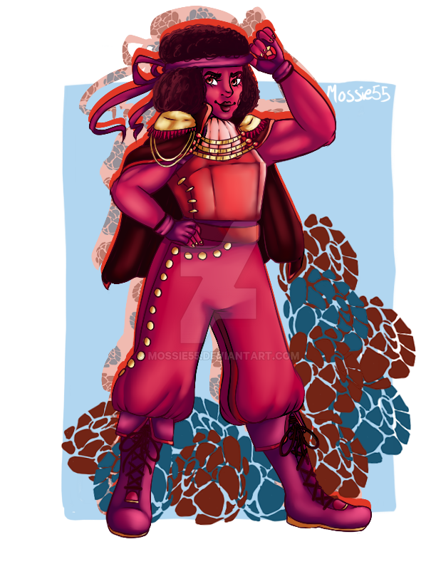 I made this as a partner piece to the Sapphire Princess, honestly it sparked a series. I'm calling Ruby a princess, despite being dressed more stereotypically as a prince, because princesses don't ...