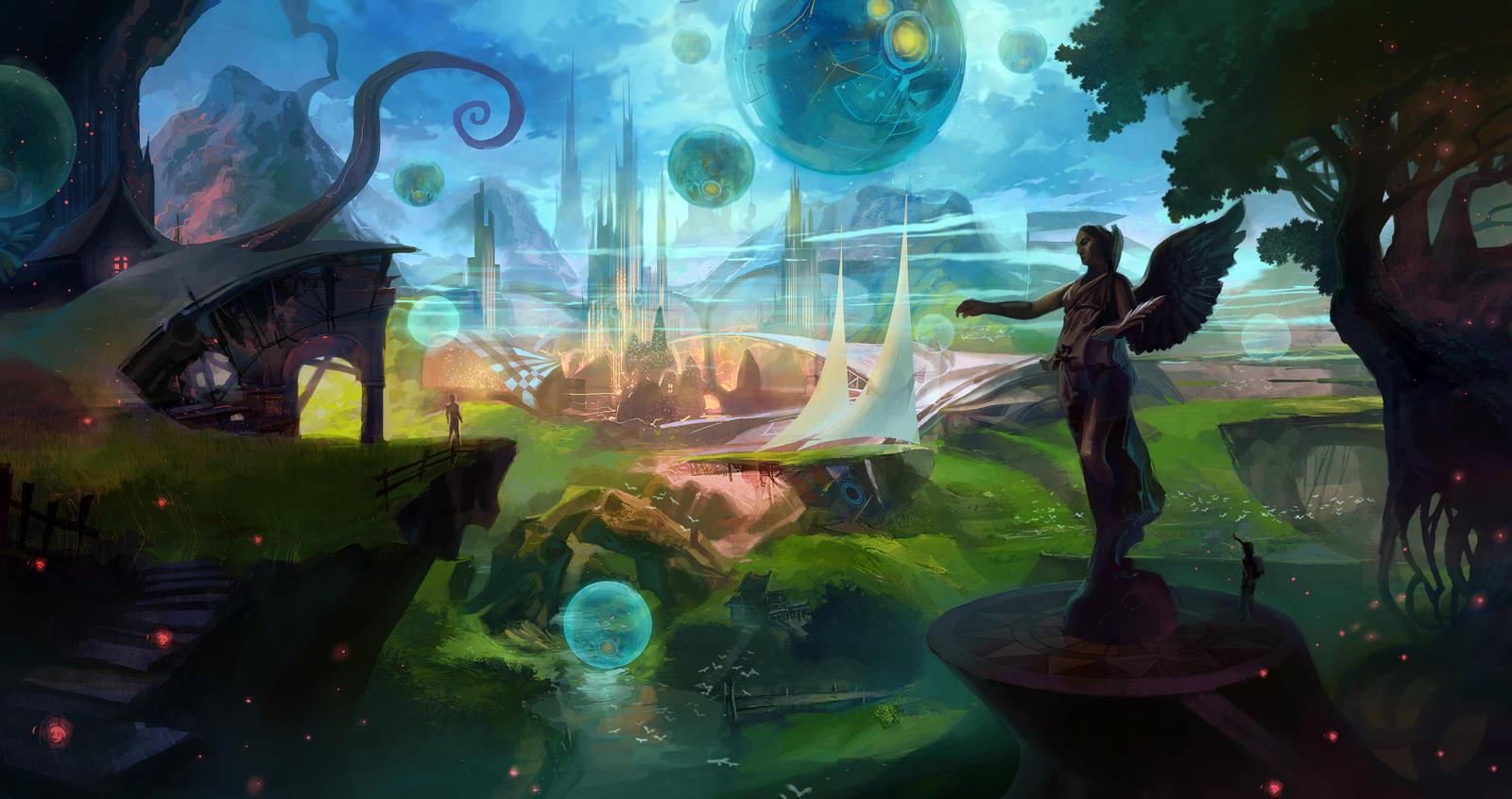 dreamscape by bonggo on deviantart