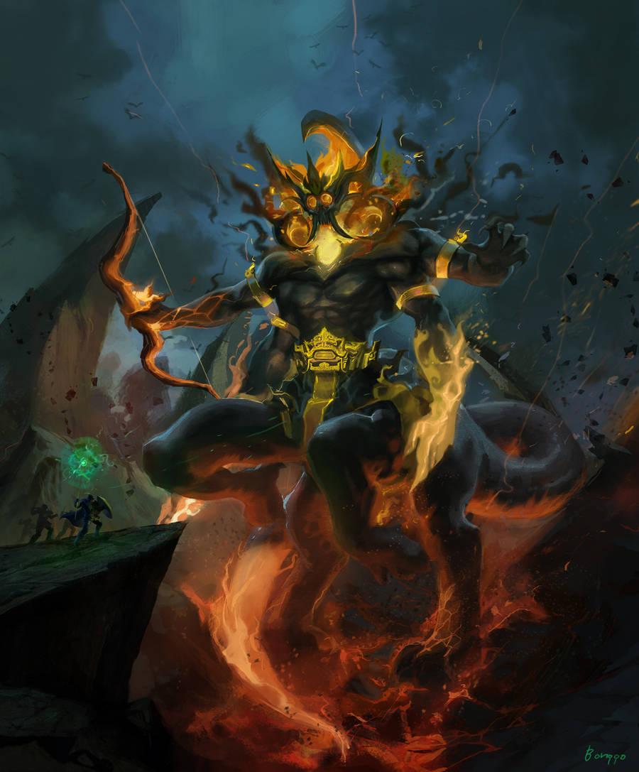 Barong_Fire Colossus by bonggo