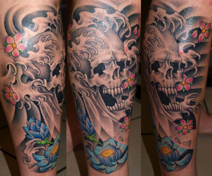 skull by darksuntattoo on deviantart