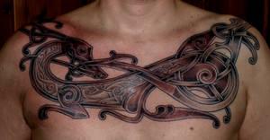 Viking art tattoo new