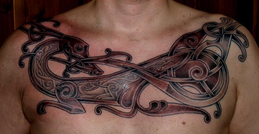 Viking art tattoo new by darksuntattoo on deviantart for Norwegian flower tattoo
