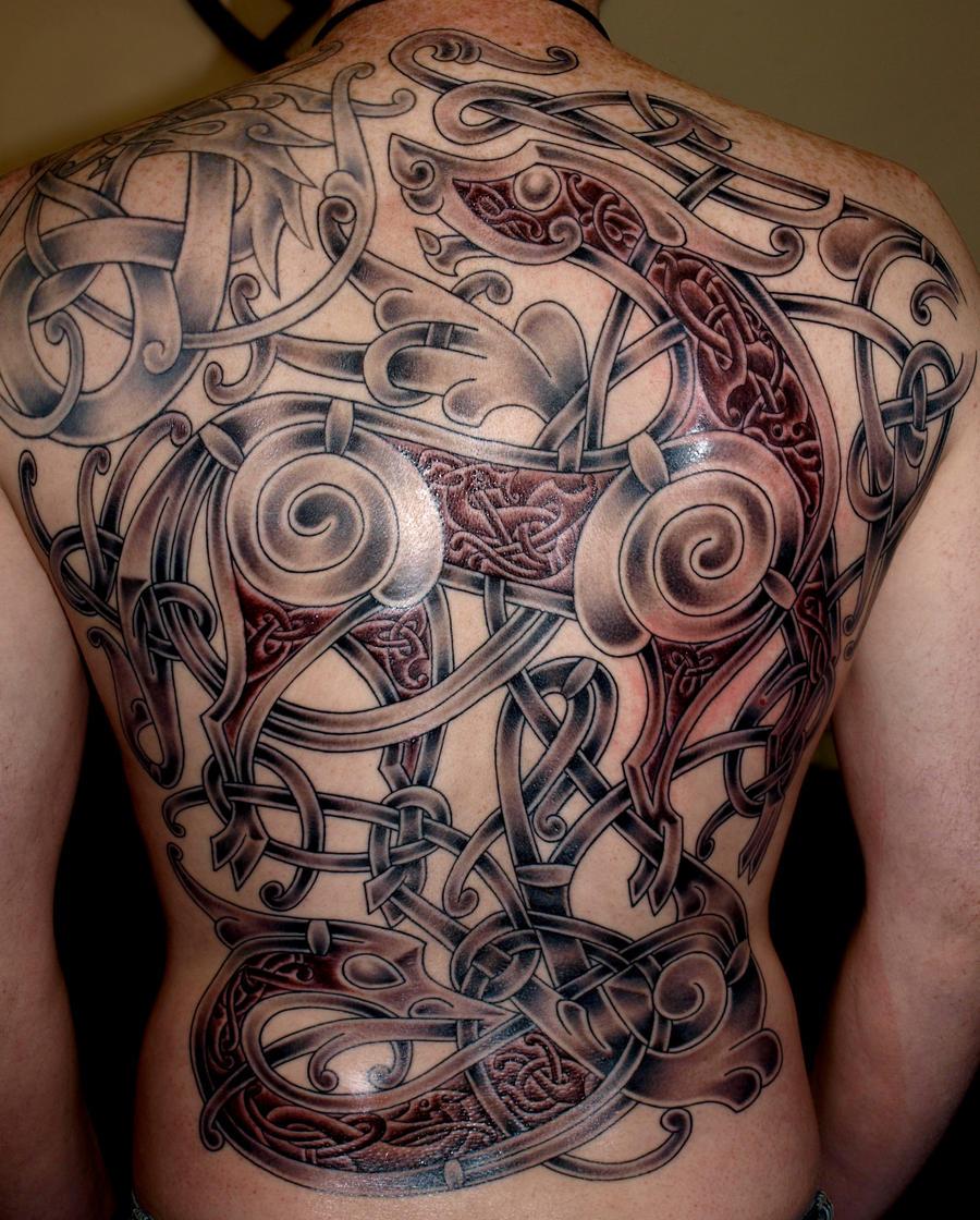 Viking art Ringerike - style Tattoo by DarkSunTattoo