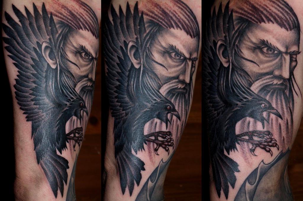 Odin by darksuntattoo on deviantart for Ravens face tattoos