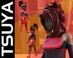 Tsuya - Tag and Stamp Ninja! by burstlion