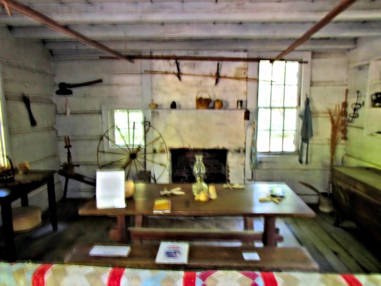 Pioneer Log Cabin #3 (inside home) by HomeOfBluAndshadows ...