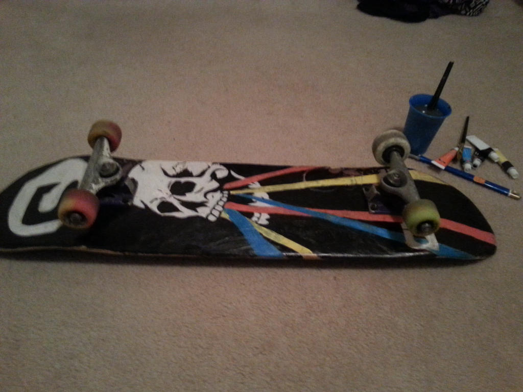 Skateboard- After Re Paint by TigerLove566