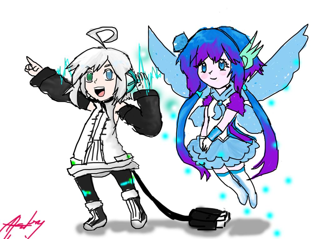 chibi fairy Lapis and Piko by Momoka123