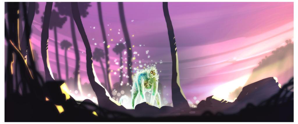 Bioluminescent creature by ArtofRoshan