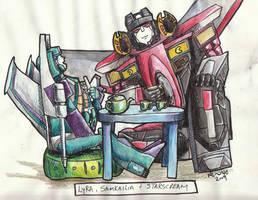 Lyra and Starscream - Colored