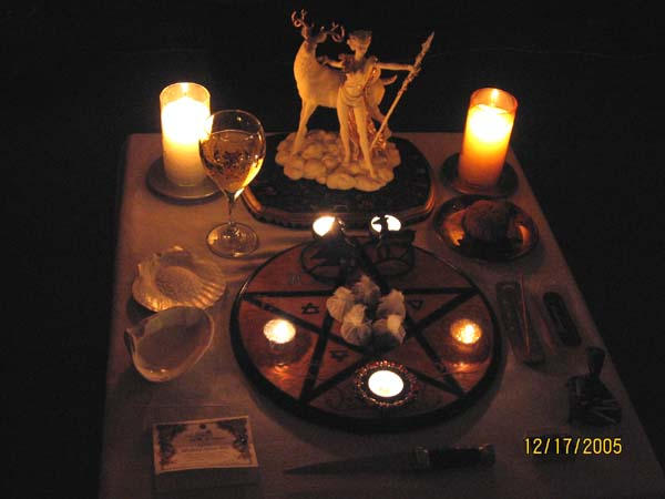Wiccan Yule Alter by Vampiric-Conure