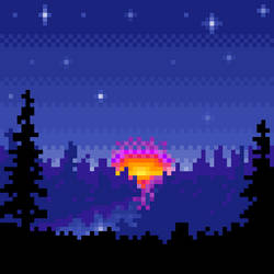 Doodle Pixel Dawn