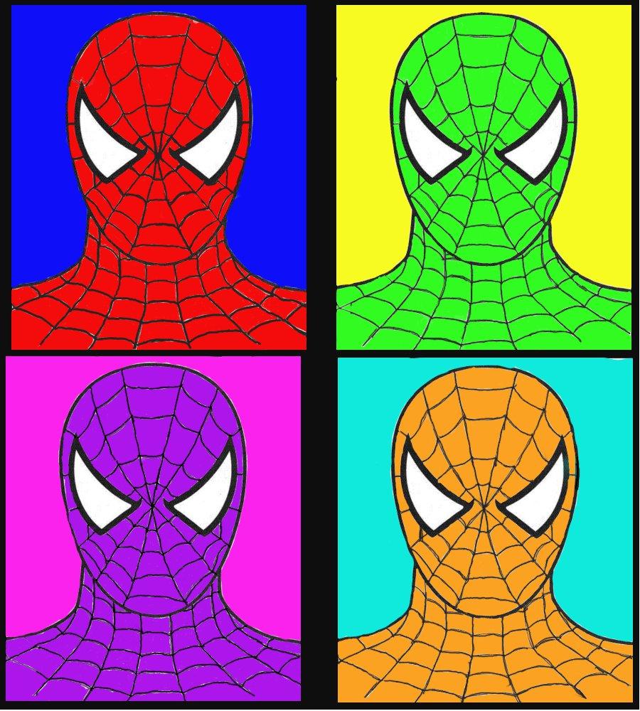 Spiderman pop art - photo#3