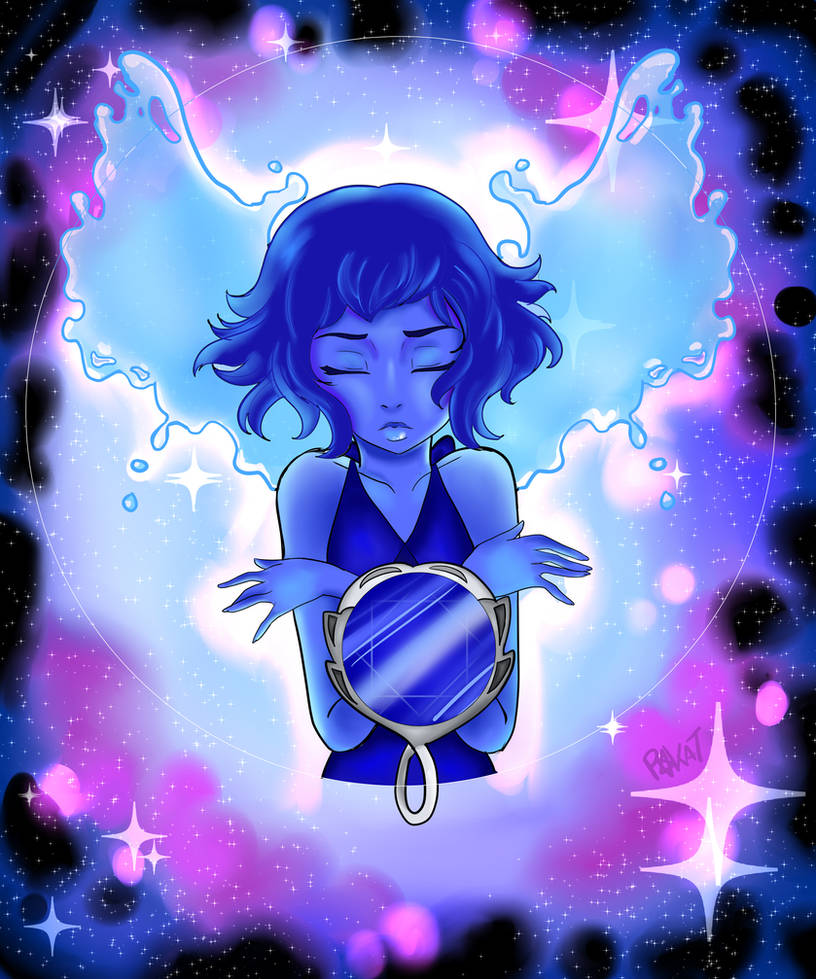 I LOVED the Steven Universe Episode with the reveal of the new gem, Lapis Lazuli, and was inspired to create this right away. *SPOILERS* There's a scene where Lapis uses the entire Beach City ocean...