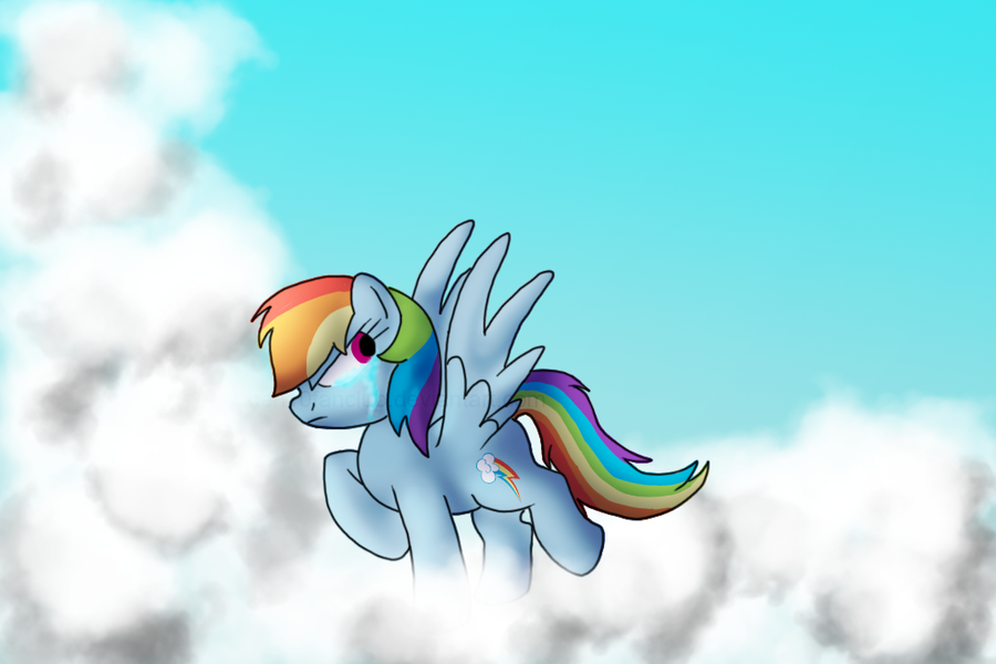 Rainbow Dash crying by CommyPink on DeviantArt