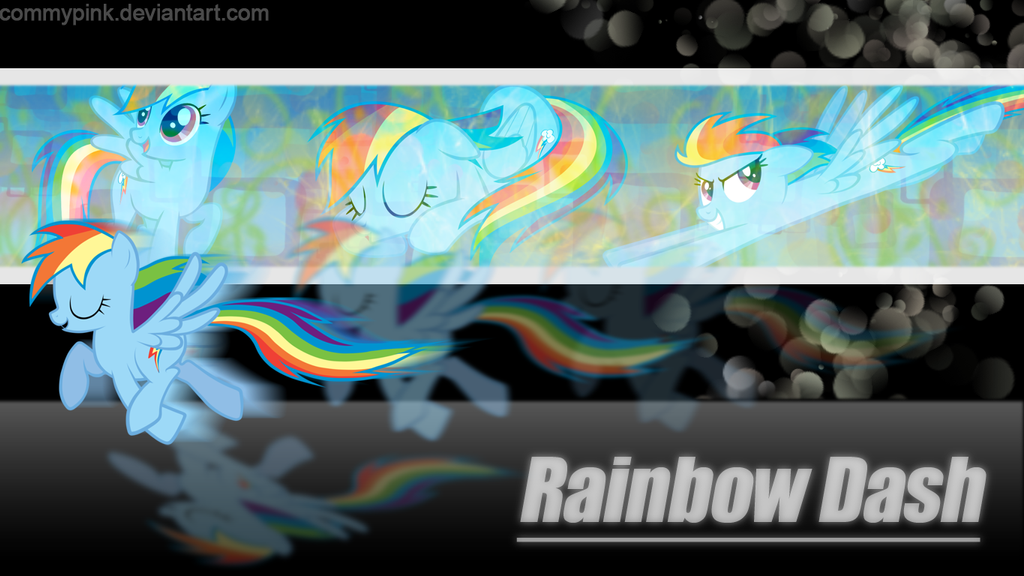 My first wallpaper, Rainbow Dash by CommyPink