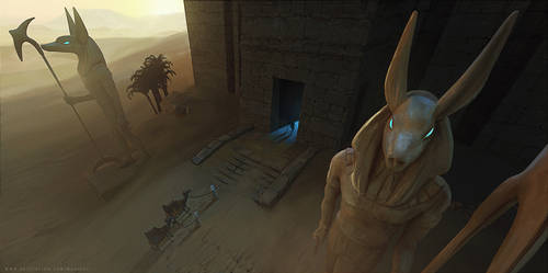 Anubis Desert3 by Jess-madhouse