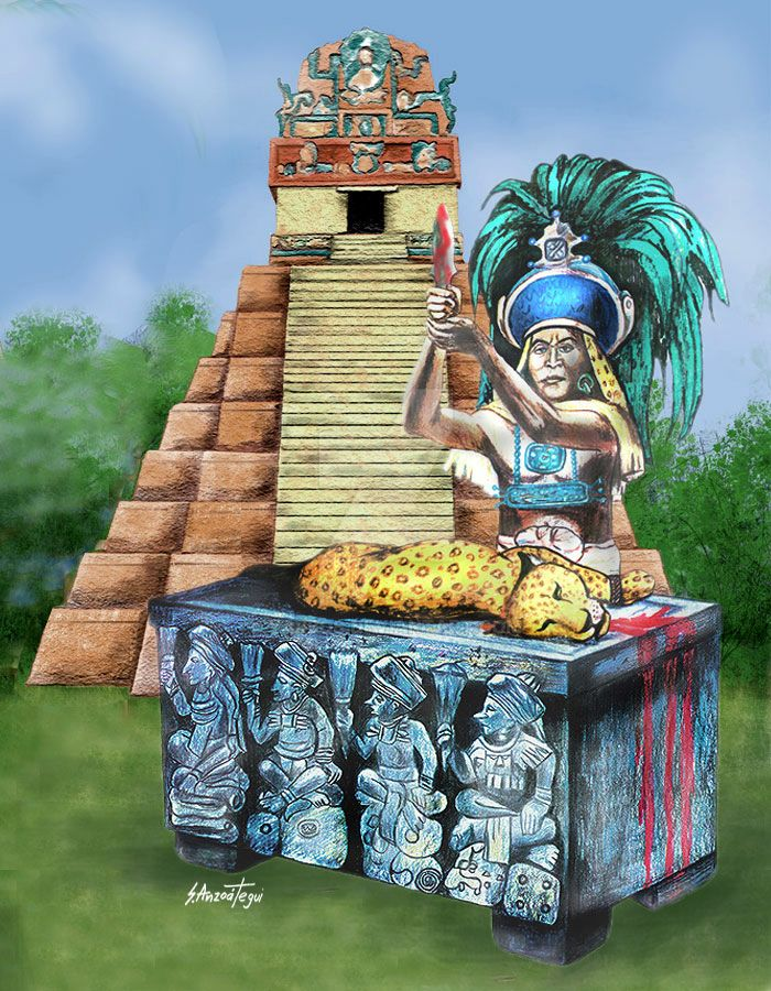 Mayan Sacrifice by yarbos on DeviantArt