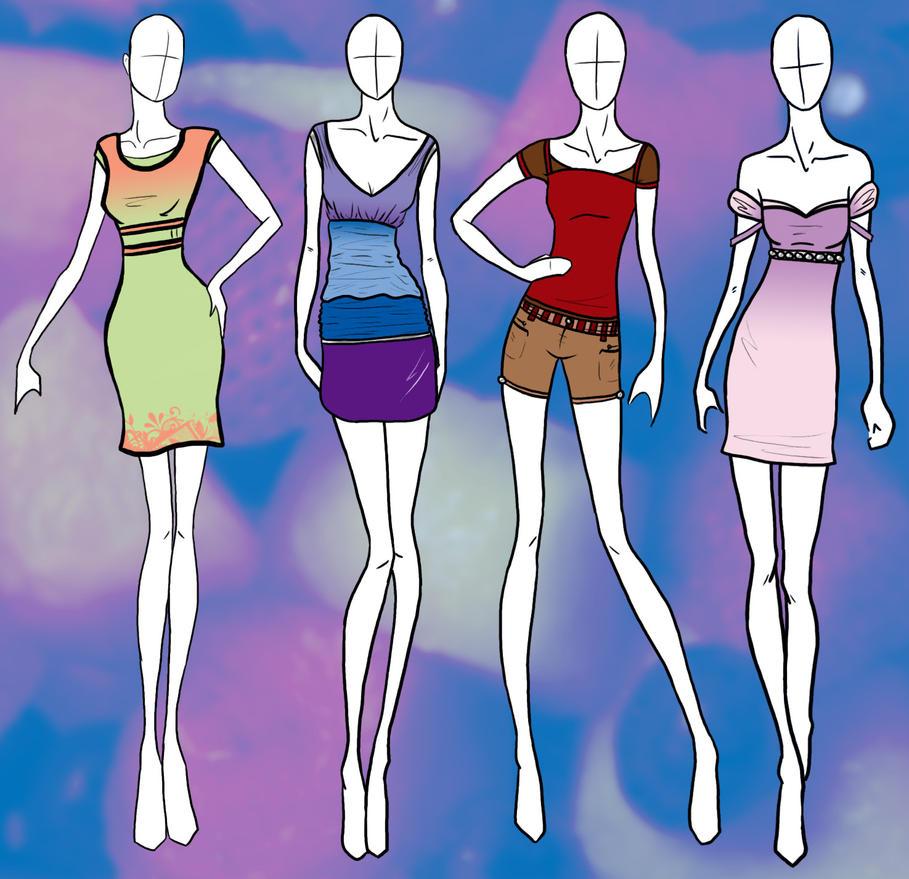 Free Fashion Croquis Templates
