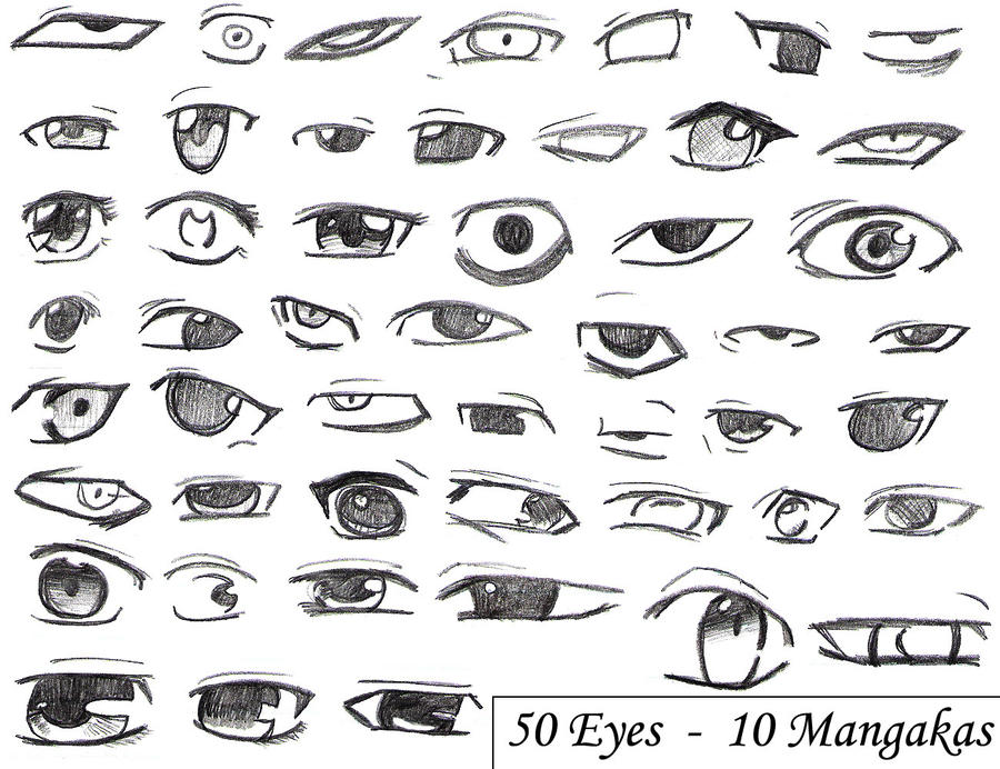 Anime Eyes Drawing Tutorial