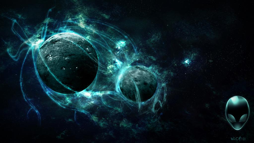3D Planet scene alienware by W1CK3DMATT on DeviantArt