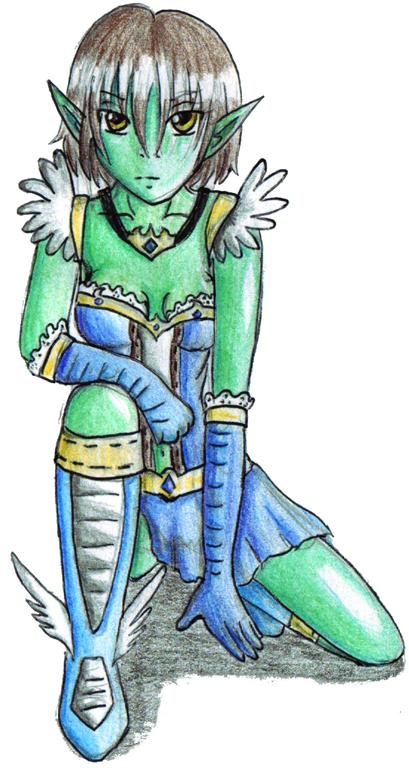 The green lady by Hylea