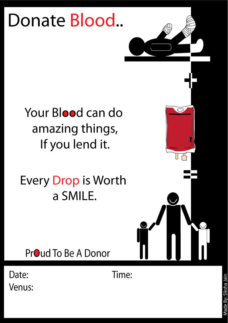 Poster design on blood donation - For Blood Donation Camp By Siksha