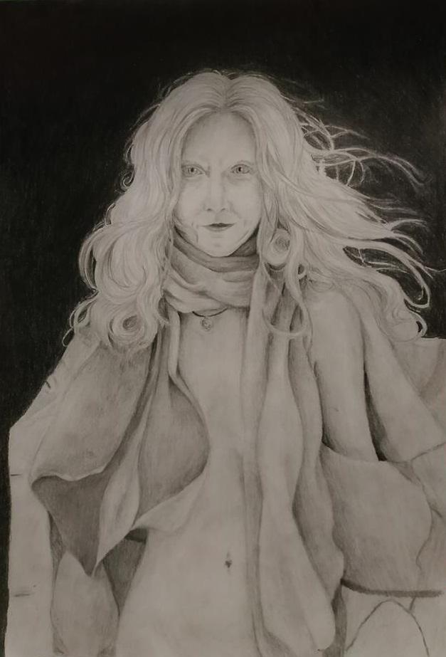 Drawing of Romy-Sunflower by Fairka