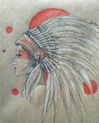 Native American Indian Girl for Rosie by Fairka