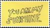 Sunshine Yellow Stamp by Onikos25
