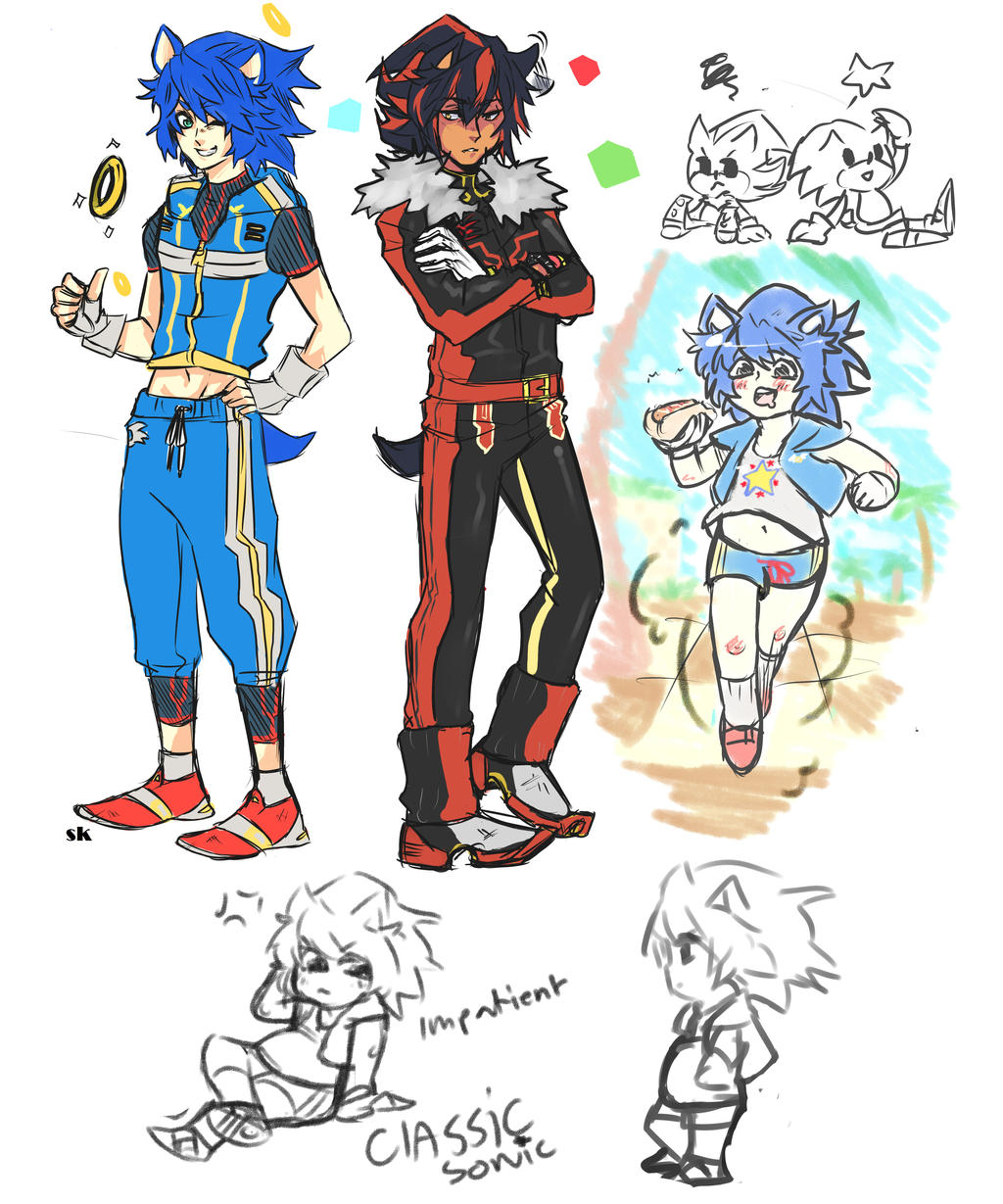Sonic The Hedgehog Human By Sosokrazy On Deviantart