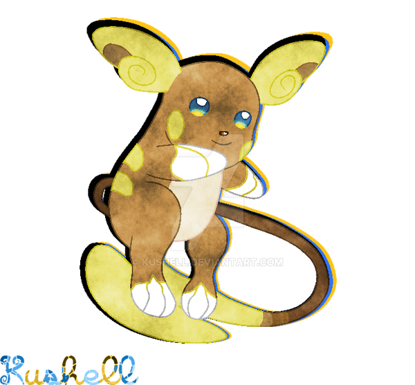 Alola Raichu Pixel By Kushell On Deviantart