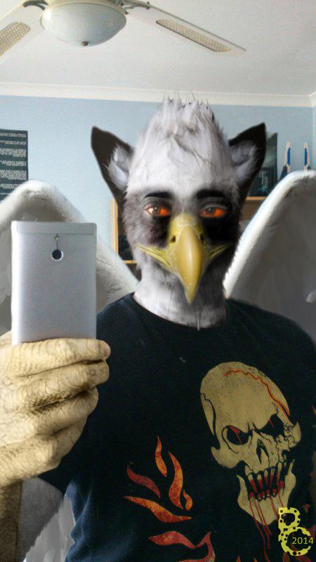 Griffon Selfie by pythos-cheetah