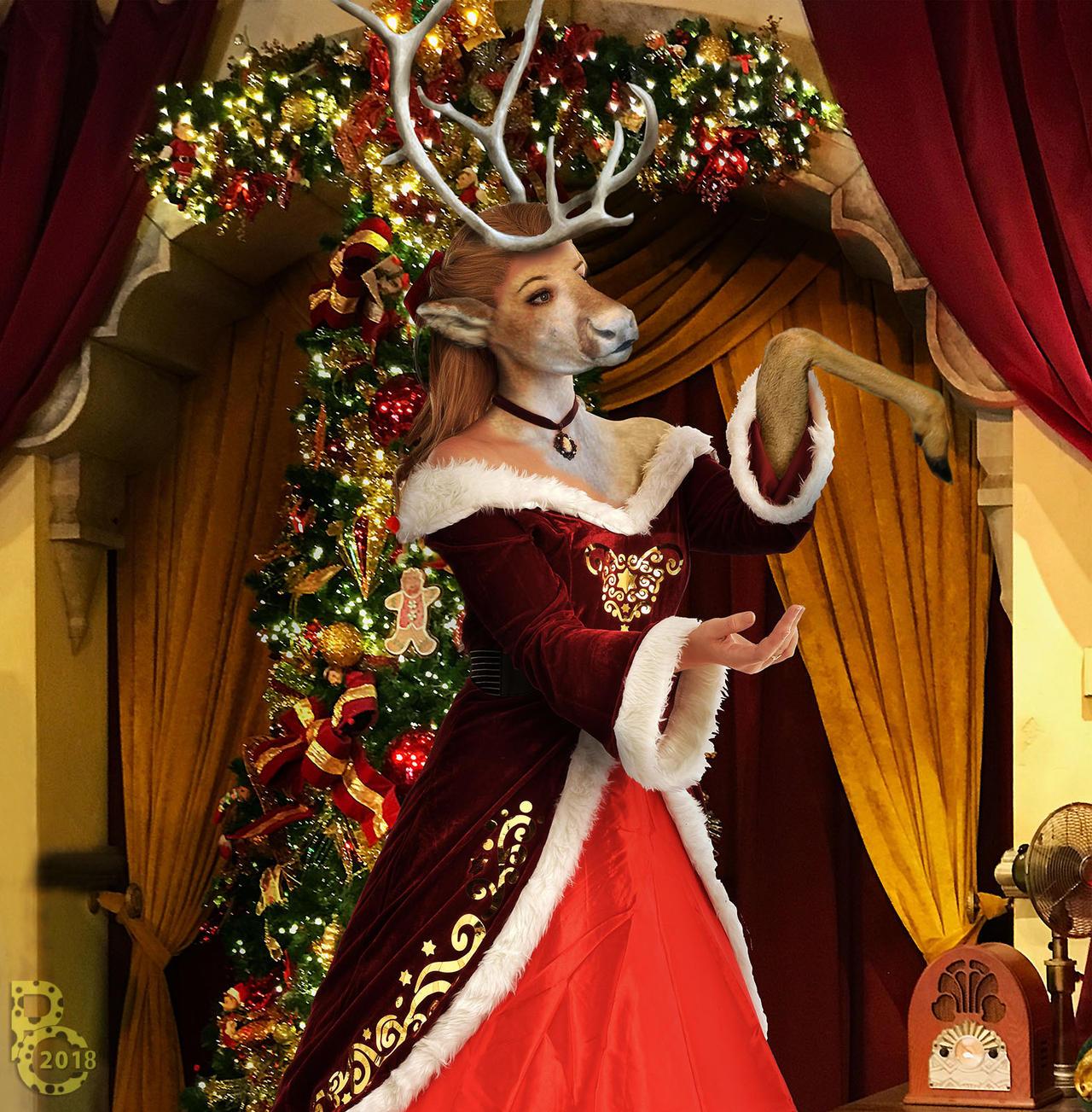 Reindeer For Christmas By Pythos Cheetah On Deviantart