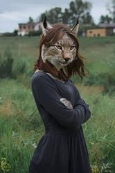 Lynx in the Grass