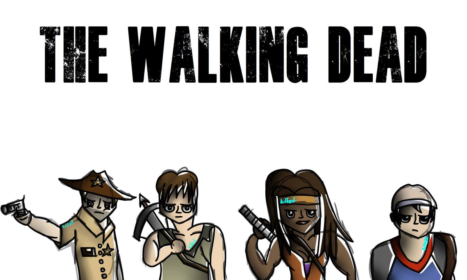 The Walking Dead Cartoon Style By Kiffert On Deviantart