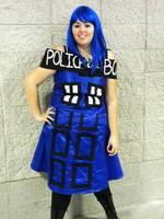 Tardis Costume by B10ndevamp