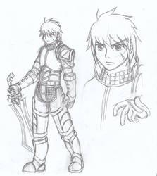 Sketch3-Warrior by ClowKusanagi