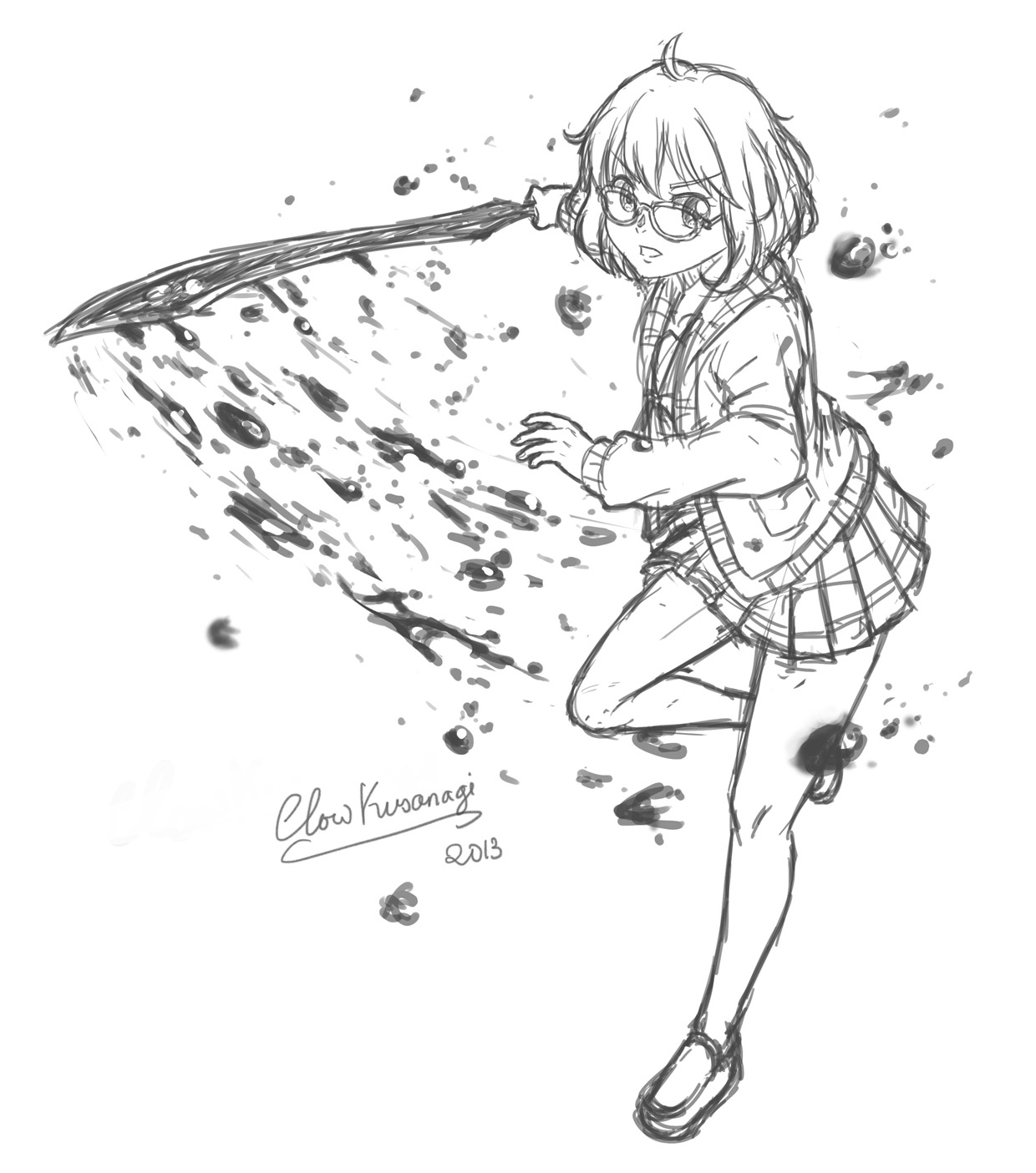 Kyoukai no Kanata - Mirai Kuriyama by ClowKusanagi