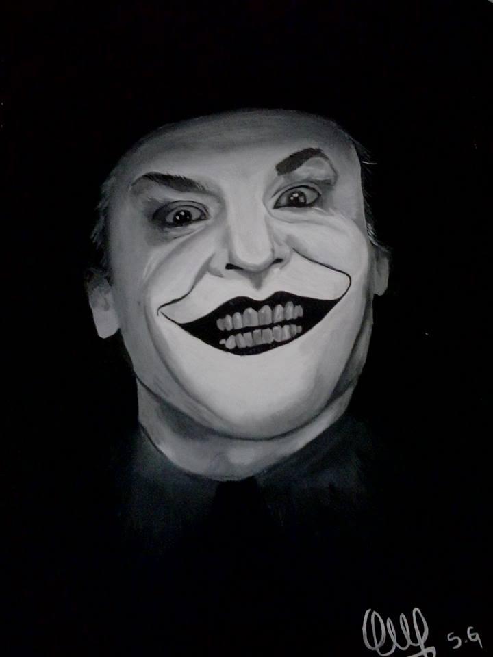 The Joker Portrait by Thevioletsoul