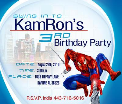 Spiderman Birthday Invitation By 225designs