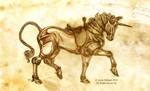 Steampunk Unicorn - Sketch