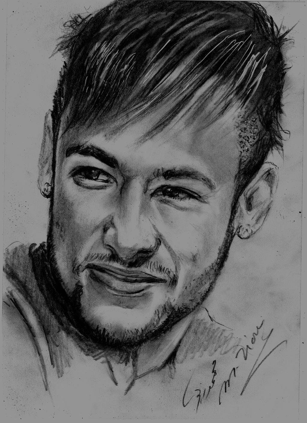Neymar Pencil Drawing | Www.imgkid.com - The Image Kid Has It!
