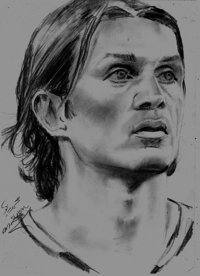 Paolo Maldini by Mohamed Ziou by MoZiou on DeviantArt