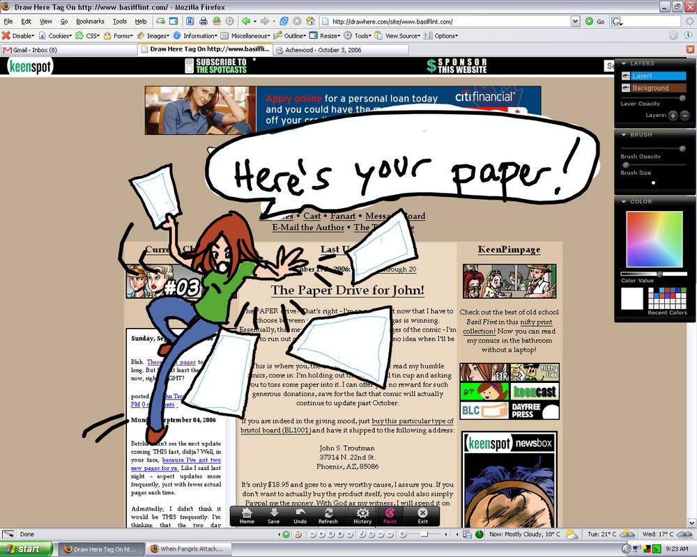 Paper Drive by tiefgrau
