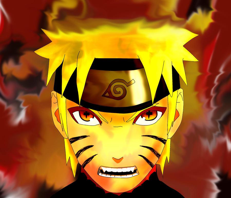Naruto kyubi sage mode...