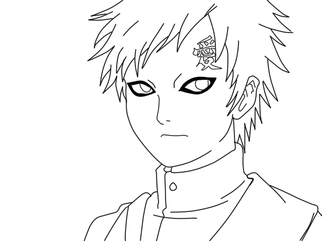 Gaara lineart by TheTocuTo on DeviantArt