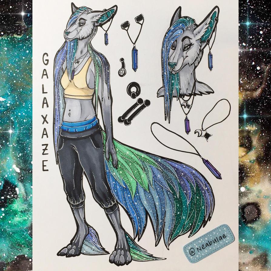 Galaxaze Anthro Ref by Neabulae